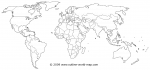 Linking image of political maps group to the world map b8a